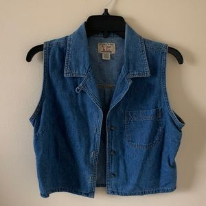 At Last & Co. Crop Length Vintage Denim Vest